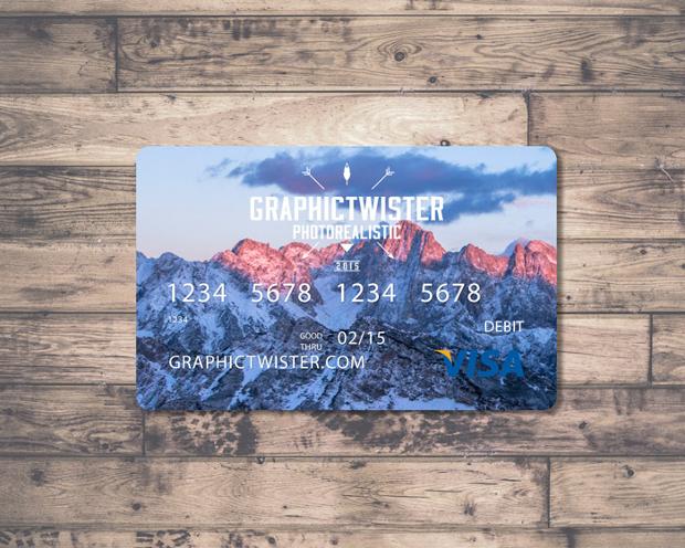 Free Layered Credit Card Mockup