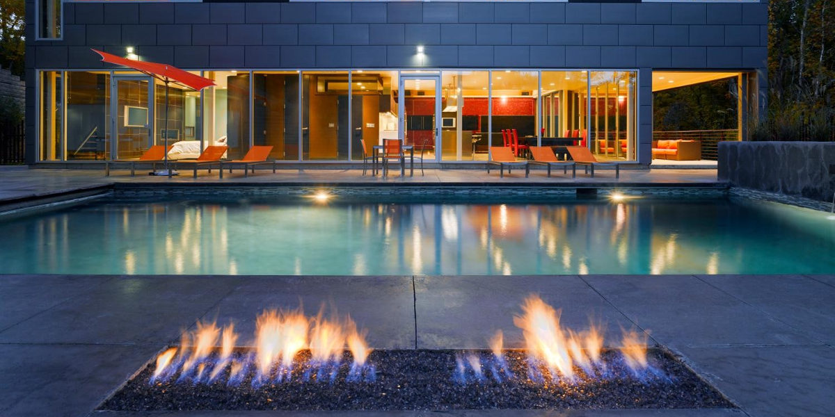 Industrial Pool Outdoor Fire Pit