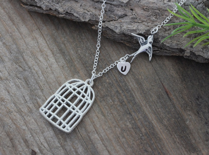 Bird Cage Pendant Necklace
