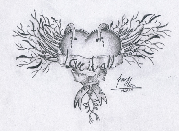 old heart drawing