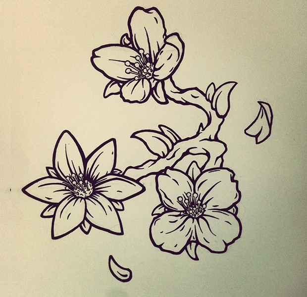 flower tattoo drawing