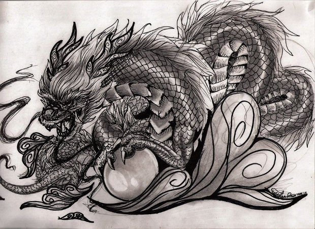 chinese dragon drawing
