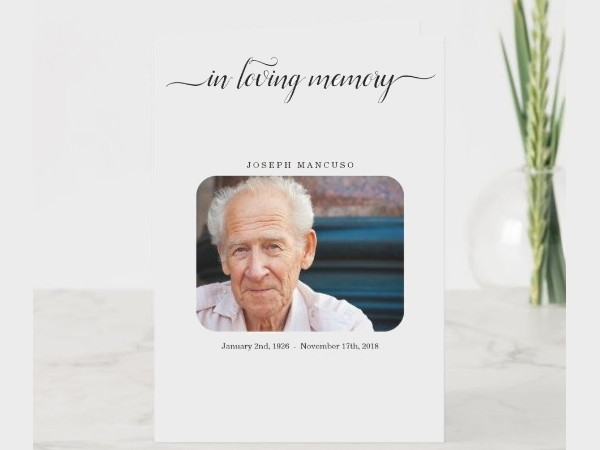 funeral memorial service pamphlet