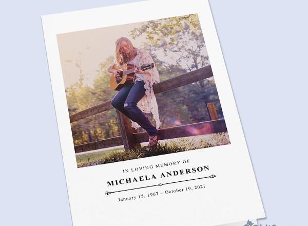 funeral program obituary pamphlet template