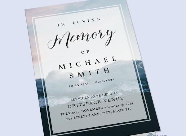 memorial obituary pamphlet