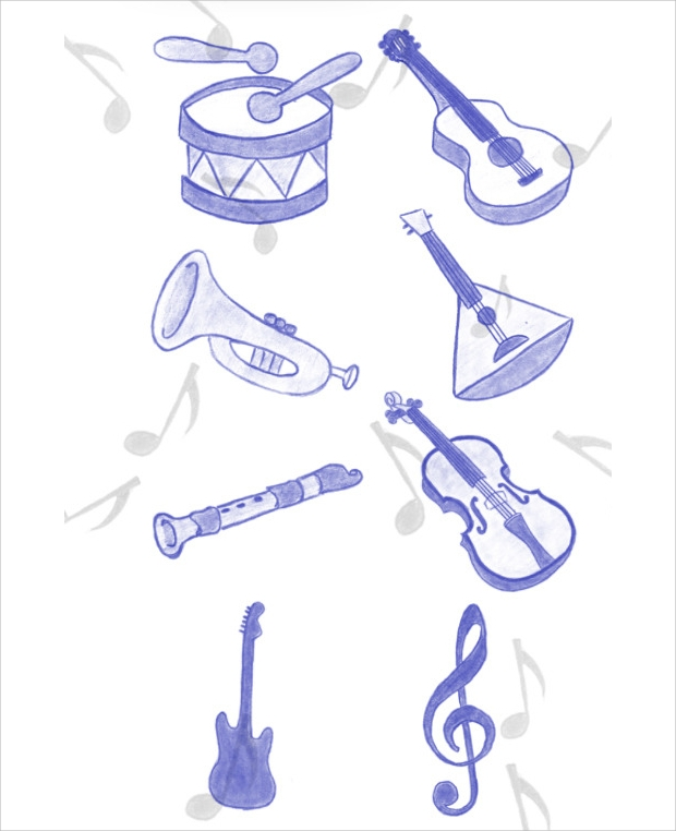 Music Instruments Brushes