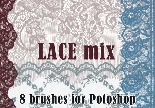 floral lace brushes