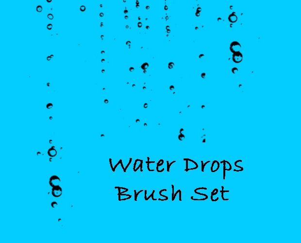 water drop brushes