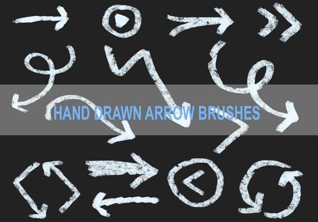 Hand Drawn Arrow Brushes