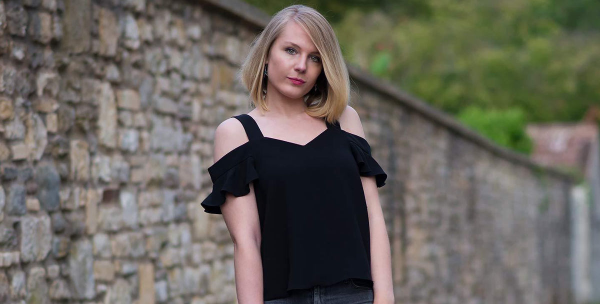 Strappy Off-the-Shoulder top
