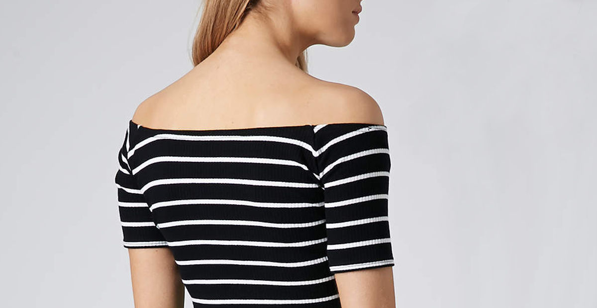 stripe for the picking ribbed top