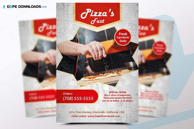 Pizza Fast Flyer Design
