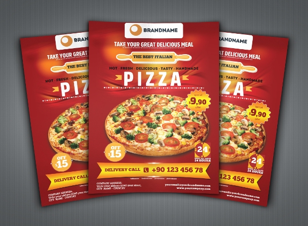 A4 Pizza Flyer Template