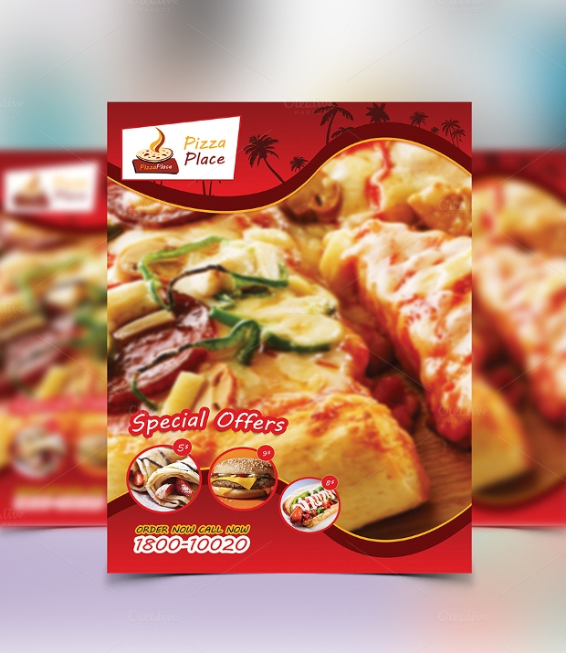 Hot Pizza Flyer Design