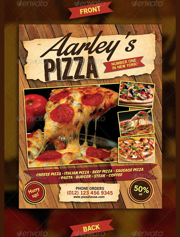 Realistic Pizza Flyer Design
