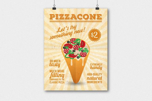 Pizza Cone Flyer Template
