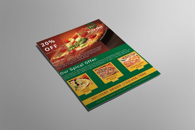 High Quality Pizza Flyer