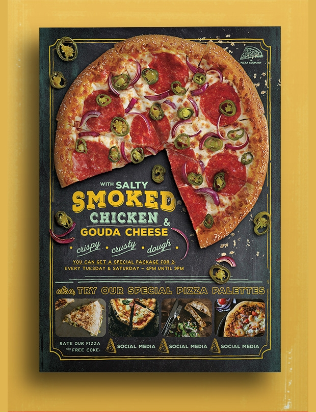 Pizza Promo Flyer Design