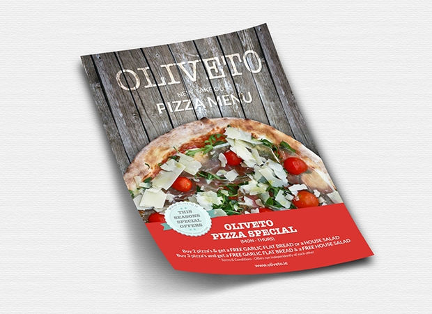 A5 Pizza Flyer Design