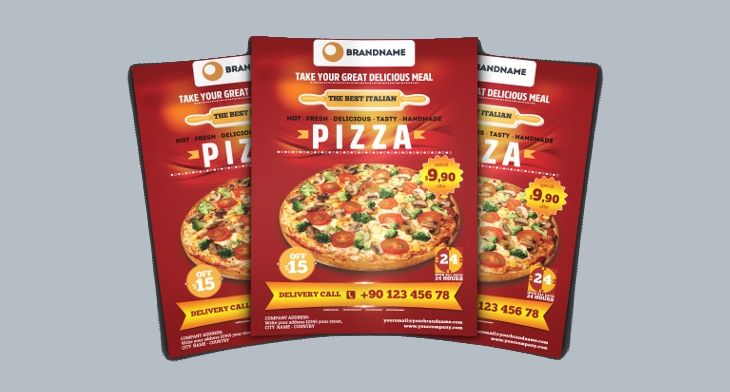 23 pizza flyer template designs printable psd word vector eps
