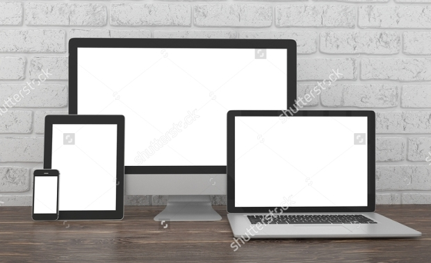 desk responsive screen mockup