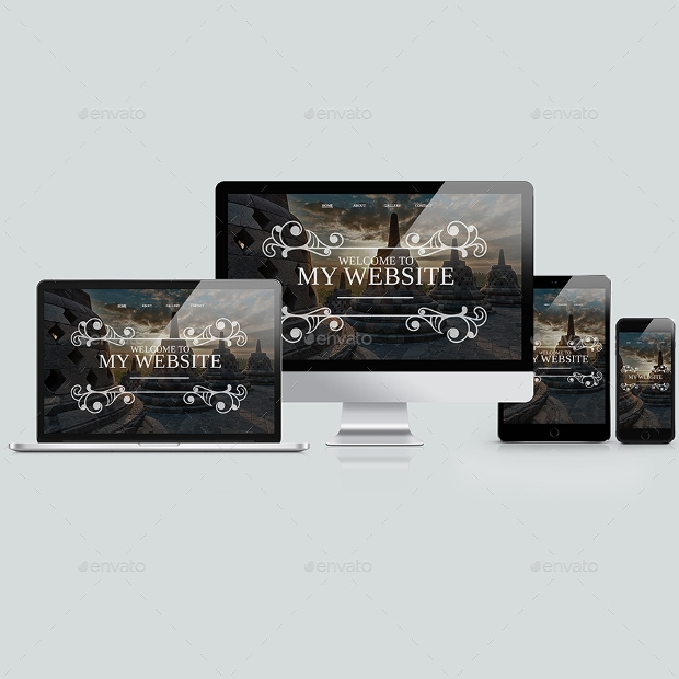 responsive website mockup design