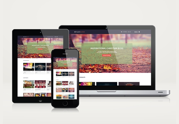Flat Responsive Website Mockup