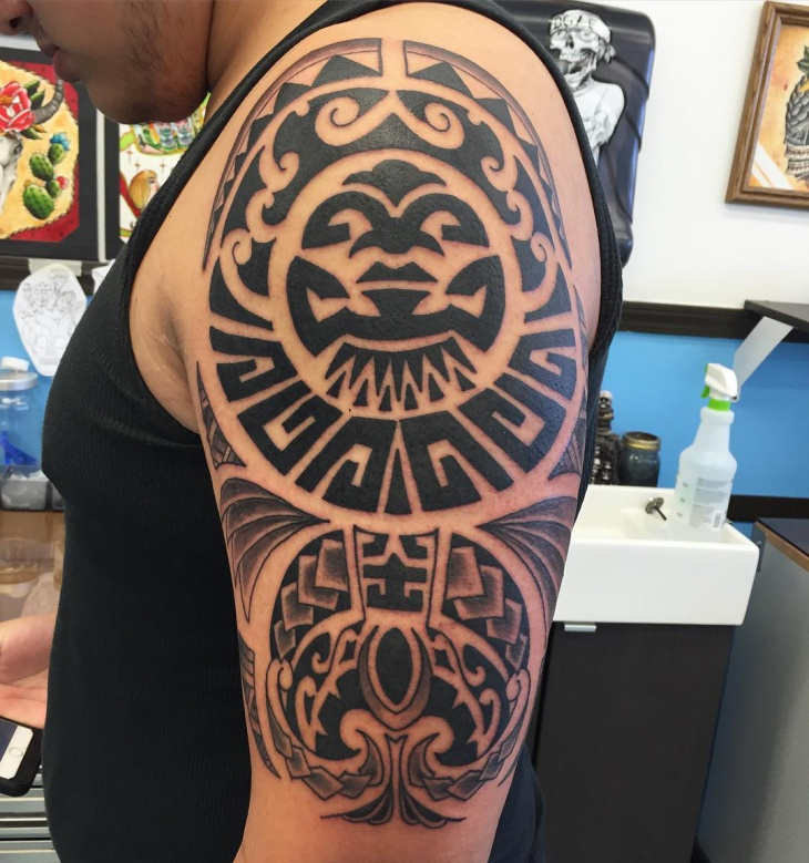 Aztec Tribal Tattoo Design