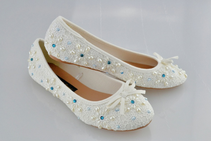 designer flat wedding shoes