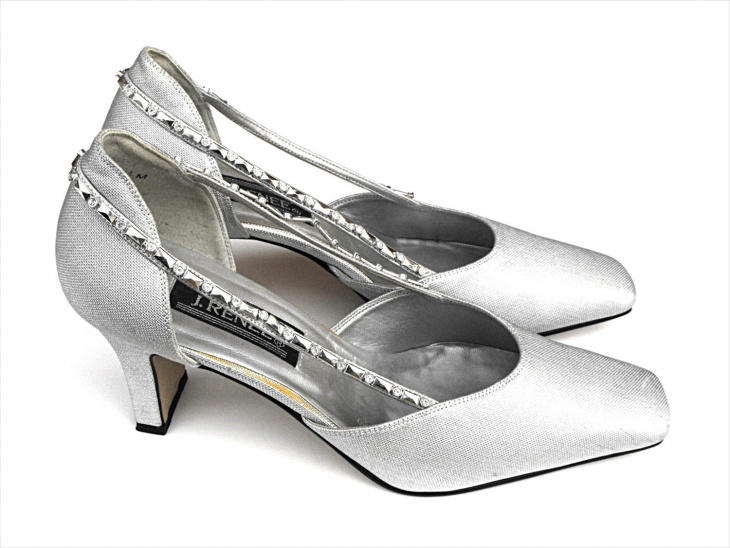 silver designer prom shoes