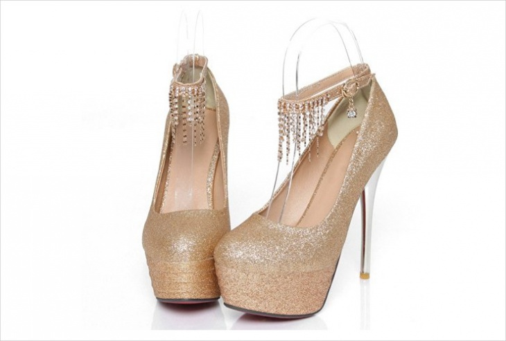 designer sparkly prom shoes