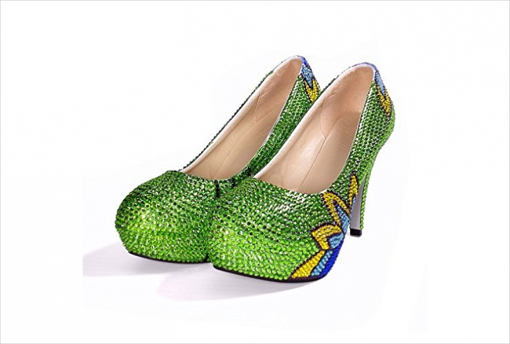 funky designer wedding shoes