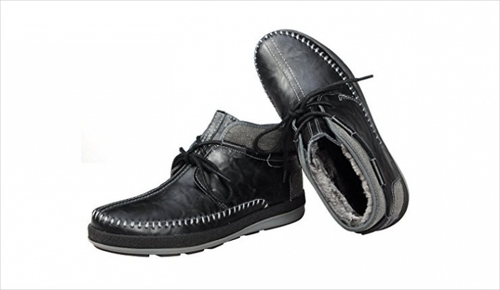 designer mens fur lined shoes