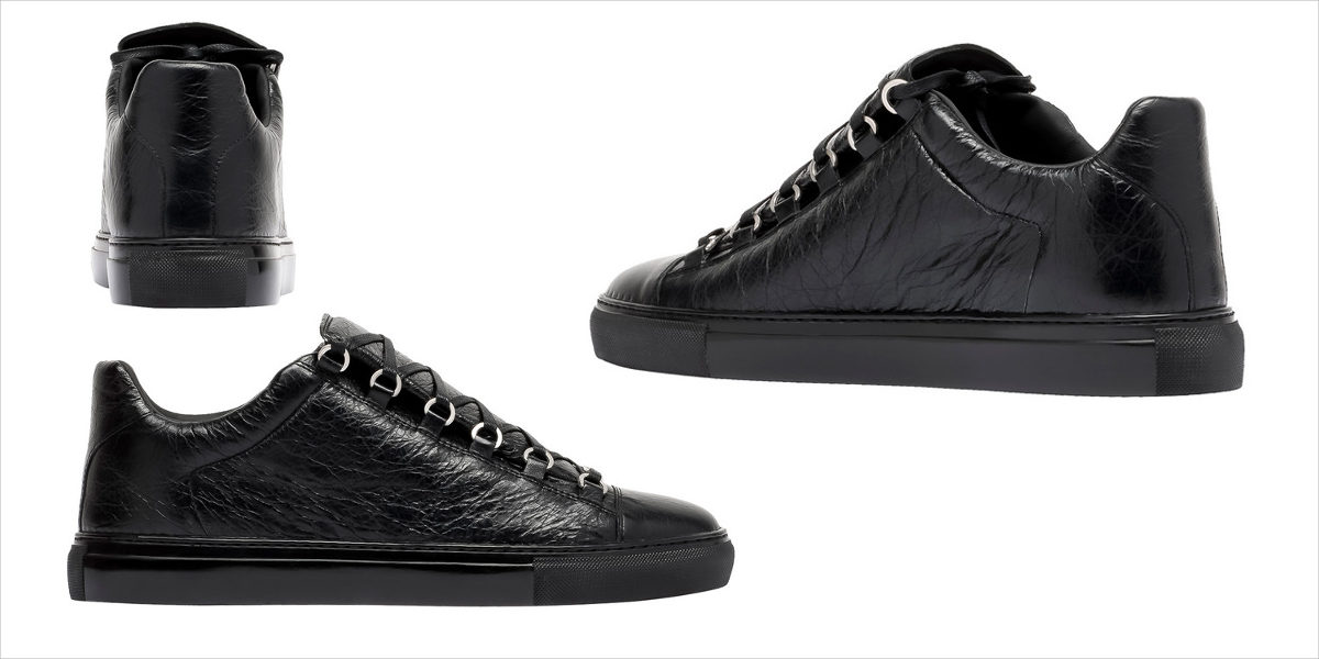 balenciaga shiny low sneakers