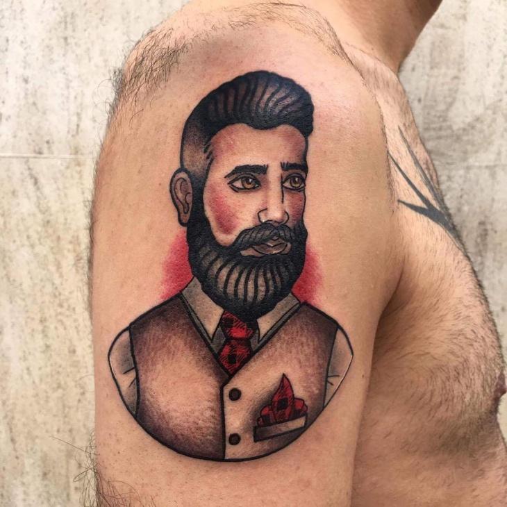 colored half sleeve tattoo design for men