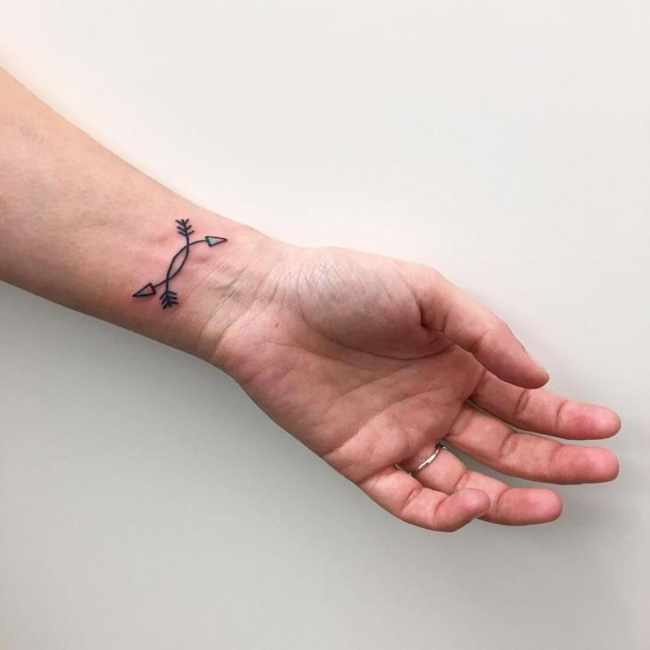 small arrows tattoo design