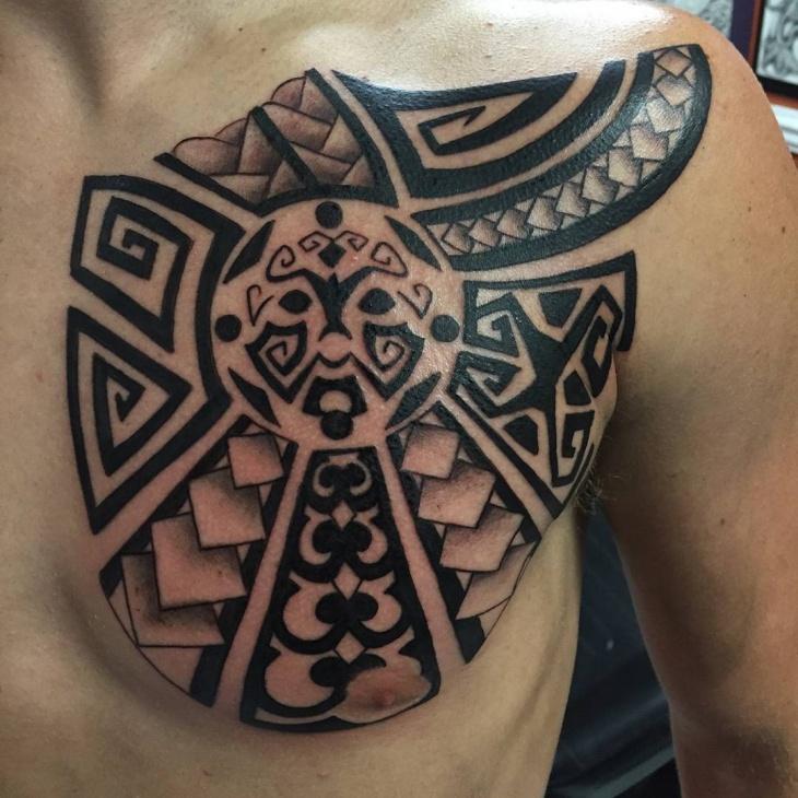 polynesian tribal tattoo design for men