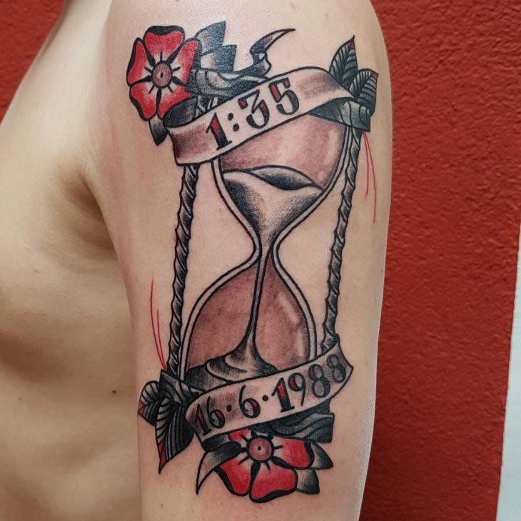 mens upper arm tattoo design