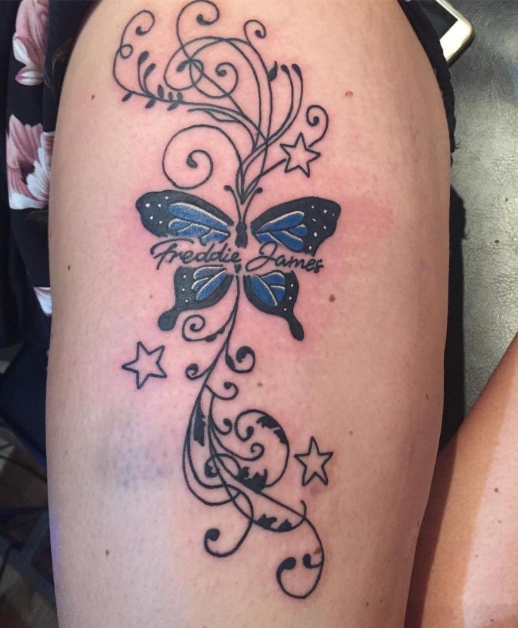 star vine tattoo design