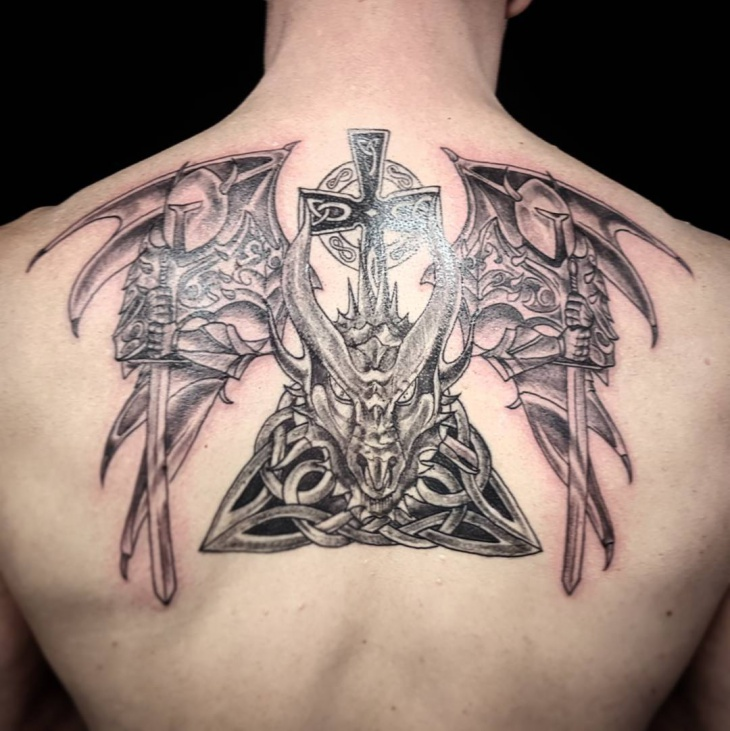 celtic warrior tattoo design
