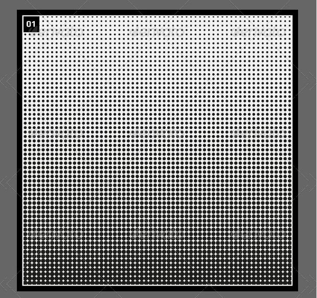 geometric halftone patterns
