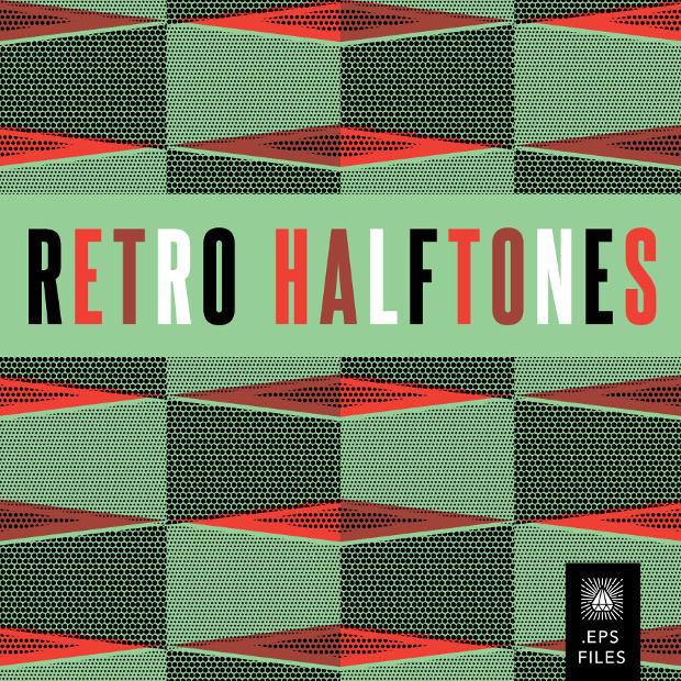 vector retro halftone patterns