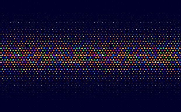 abstract triangle halftone pattern