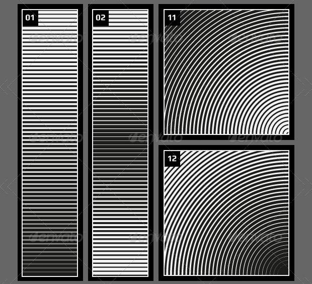 linear halftone pattern