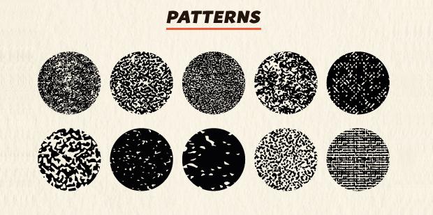 vintage halftone pattern