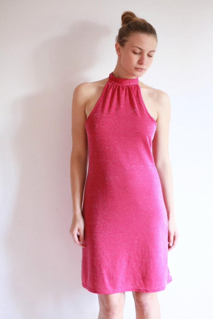 lurex pink dress