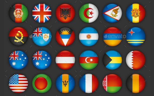 Round Flag Vector