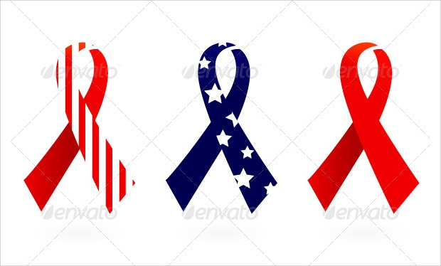 flag ribbon vector illustration