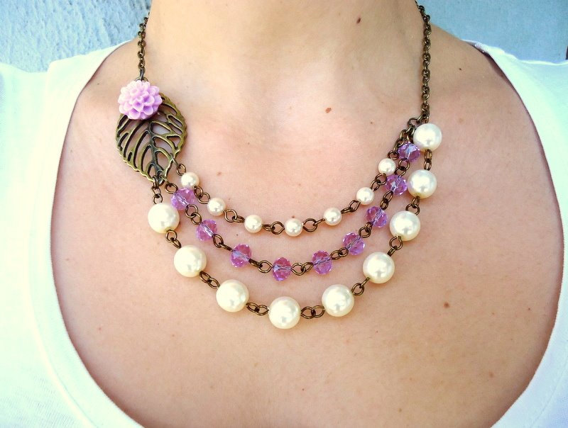 pearl bib necklace design