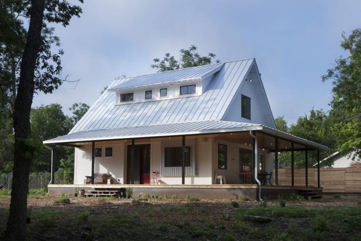 modern steel roof design